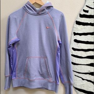 NIKE THERMA FIT Purple long sleeve hoodie